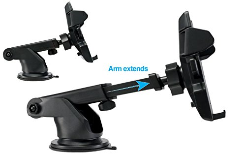 360°Rotating Extendable Car Windshield Mount Holder Stand B