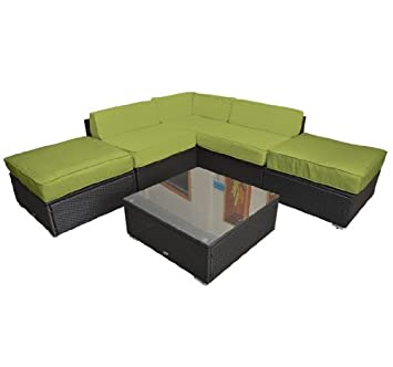 Outsunny 6pc Outdoor Sofa Sectional Replacement Cushion Covers