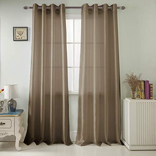 RT Designers Collection Nancy Faux Silk 54 x 84 in. Grommet Curtain Panel ()
