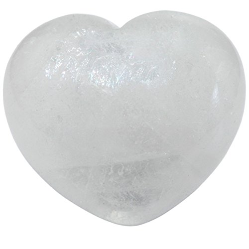 rockcloud Healing Crystal Rock Quartz Heart Love Carved Palm Worry Stone Chakra Reiki Balancing