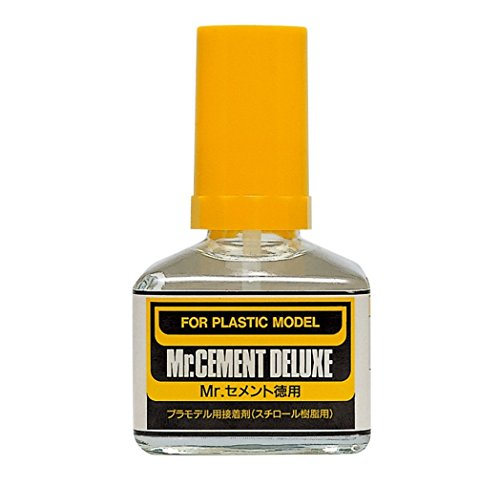 Mr. Cement Deluxe Economy Bottle NET.40ml Gundam Hobby (Brush Type)