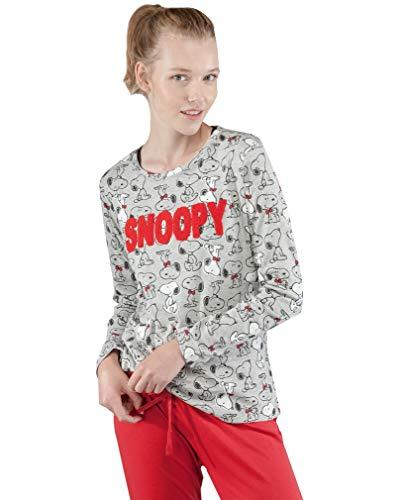 GISELA Pijama para Mujer de Invierno de Snoopy: Amazon.es: Ropa y accesorios