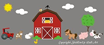 Farm Animal Wall Decals - Country Animal Wall Stickers - Large Barn Decal - Sheep Decal & Amazon.com: Farm Animal Wall Decals - Country Animal Wall Stickers ...