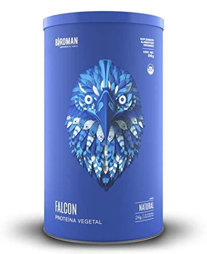 Falcon Protein Birdman, Proteína Vegetal (Vegana) en polvo Certificada Orgánica Sabor Natural 510 gr