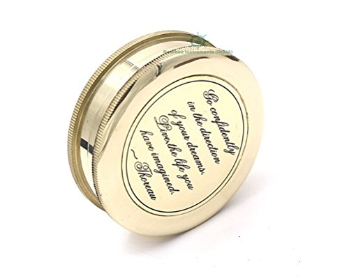 Dream Instrument - ROORKEE INSTRUMENTS (INDIA) A NAUTICAL REPRODUCTION HOUSE Go Confidently in The Direction of Your Dreams Thoreau's Quote Compass W/Case
