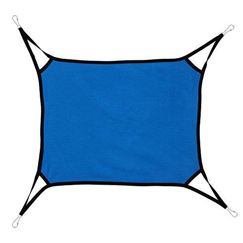 XUAN'S SHOP Pet Rat Rabbit Ferret Chinchilla Cat Dog Animal Soft Hammock (blue)