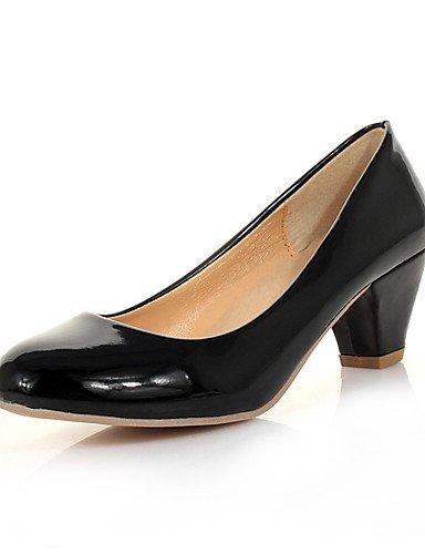 ZQ Zapatos de mujer-Tac¨®n Robusto-Tacones-Tacones-Boda / Vestido / Casual / Fiesta y Noche-Semicuero-Negro / Blanco , white-us8 / eu39 / uk6 / cn39 , white-us8 / eu39 / uk6 / cn39 white-us8 / eu39 / uk6 / cn39