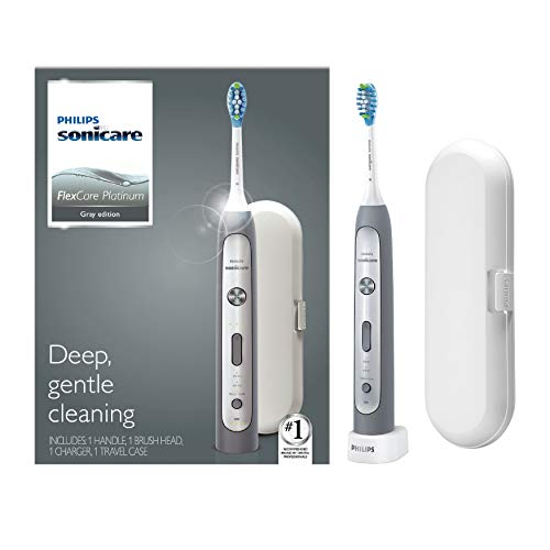 Philips Sonicare Flexcare Platinum, Electric Rechargeable Toothbrush, Grey