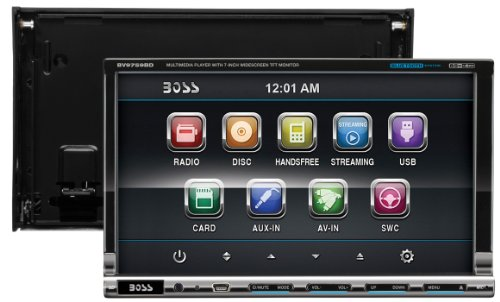 BOSS AUDIO BV9759BD Double-DIN 7 inch Motorized Touchscreen DVD Player Receiver, Bluetooth, Detachable Front Panel, Wireless Remote by BOSS Audio (Image #5)