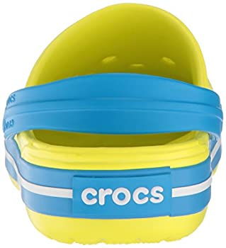 Crocs Kids' Crocband K Clog,tennis Ball Greenocean,9 M Us Toddler 4