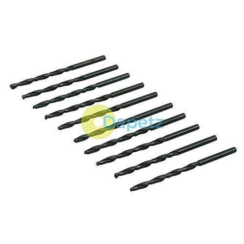 Dapetz ® HSS Metric Jobber Drill Bits 10 Pack 3mm Metal Steel Plastic Wood
