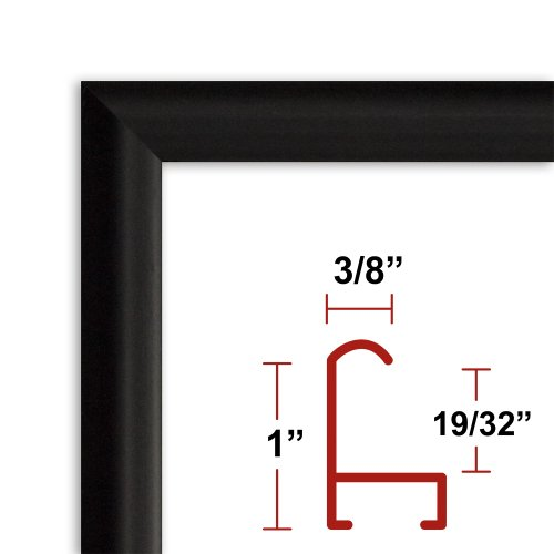 13 x 39 Satin Black Poster Frame - Profile: #15 Custom Size Picture Frame (39 By 13 Picture Frame compare prices)