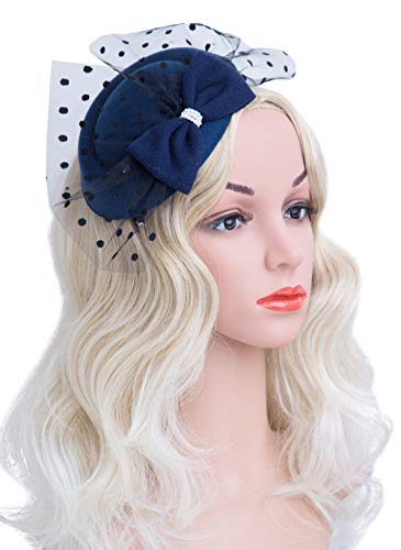 Cizoe Fascinator Hair Clip Pillbox Hat Bowler Feather for sale  Delivered anywhere in USA