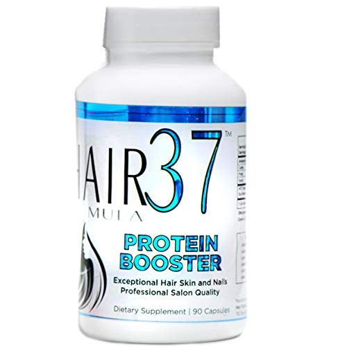 37 Vitamins Hair Formula (Best Protein Supplement for Hair Promote Healthy Hair Skin Nails Hair Formula 37 Protein Booster with Amino Acids which Boost Growth Fast Helps Build Keratin and Collagen Women Who Want Long Strong)