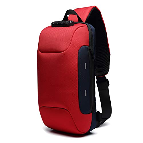 Ohyoulive Anti-Theft Backpack – 3-Digit Lock Shoulder Bag Oxford Cloth Waterproof for Mobile Phone Travel Theft Business…