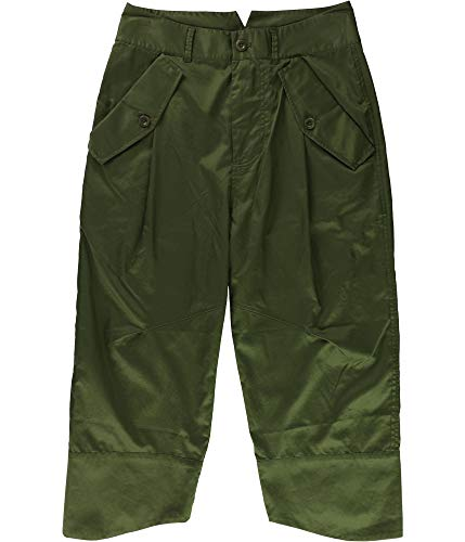 Ralph Lauren Womens Wide-Leg Casual Trousers, Green, 23