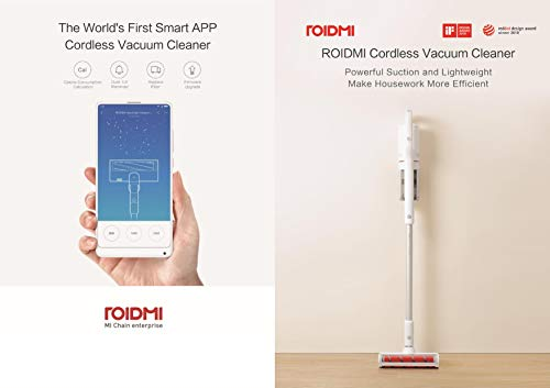 Roidmi - Aspirador portátil inalámbrico de mano (F8 Storm, potente y de bajo ruido, 55 minutos de larga duración de la...