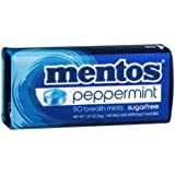 Mentos Breath Mints Sugarfree Peppermint - 50 CT