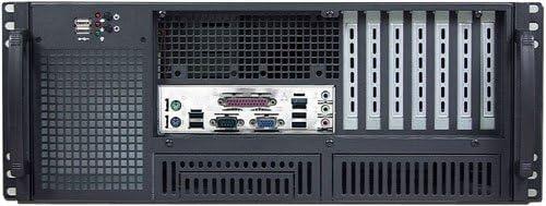 ATX//Micro-ATX//Mini ITX Rackmount Chassis 2x5.25+6x3.5 HD 14 Deep Front Access NO Power Supply, No Rail,No System and Case Only IPC-E420F PLINKUSA RACKBUY 4U