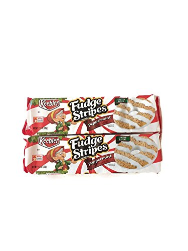 (Keebler LIMITED Batch Fudge Stripes Peppermint Cookies 11.5 oz (2 PACK))