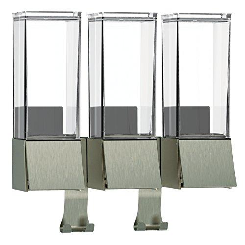 Luxury Triple Shower Dispenser Brushed