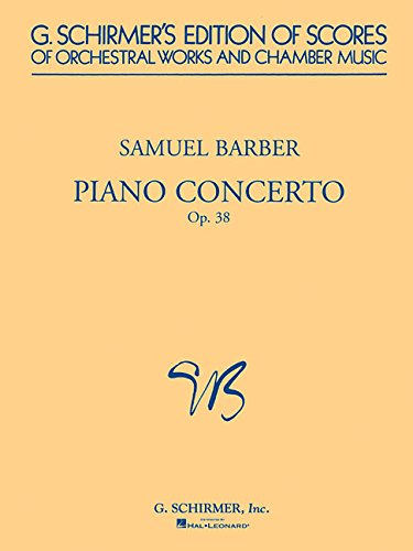 Piano Concerto, Op. 38: Study Score (G. Schirmer's Edition of Scores of Orchestral Works and Chamber Music) by G. Schirmer