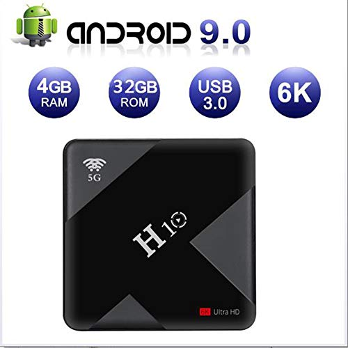 KGAYUC TV Box, Android 9.0 TV Box, Smart TV Box 4GB RAM 64GB ROM H6 Quad-Core Support Dual-Band WIFI 2.4G / 5.8G…