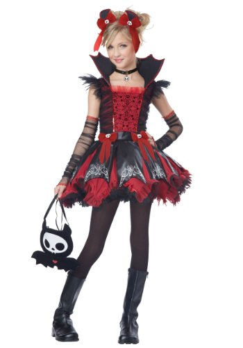 California Costumes Diego The Bat Deluxe Tween Costume, Large (Goth Halloween Costumes For Kids)