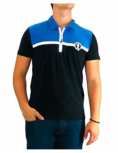Bikkembergs - Polo Dirk Reflective Zip Tri Colour - 3XL, - Men Shirts Bikkembergs