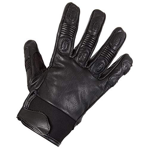 (Xelement XG-7771 Men's Black Leather Padded Racing Gloves - Large)