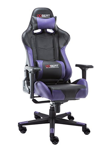 OPSEAT Master Series 2018 PC Gaming Chair Racing Seat Computer Gaming Desk Office Chair - Purple (Chair Purple Computer)