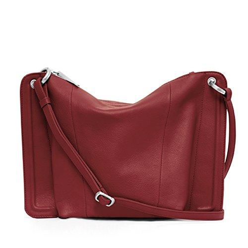 Gretchen - Bolso al hombro para mujer Rojo rojo (royal red)