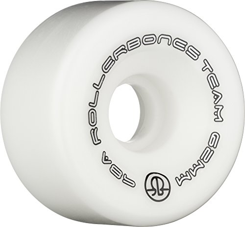 Hard White Wheel (Rollerbones Team Logo Recreational Roller Skate Wheels (Set of 8), White, 62mm)