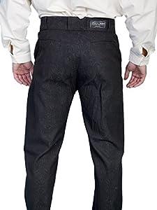 Victorian Men's Pants – Victorian Steampunk Men's Clothing Tone On Tone Dress Pants Brown Cotton Blend 30 $90.00 AT vintagedancer.com