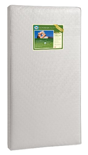 "Baby Mattress Kolcraft (Sealy Soybean Foam-Core Infant/Toddler Crib Mattress - Hypoallergenic Soy Foam, Extra Firm, Durable Waterproof Cover, Lightweight, Air Quality Certified Foam, 51.7""x27.3)"