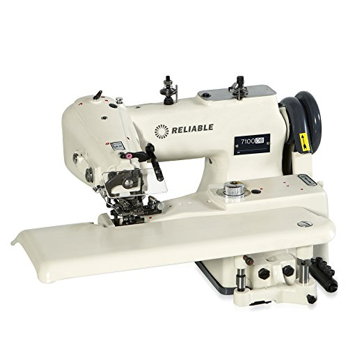 Reliable 7100DB Heavy-Duty Drapery Blindstitch Machine with SewQuiet Servo Motor and Synchronizer