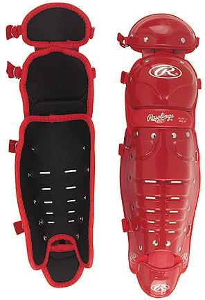 """13"""" Youth Size Double Knee Cap Leg Guards from Rawlings - On"""