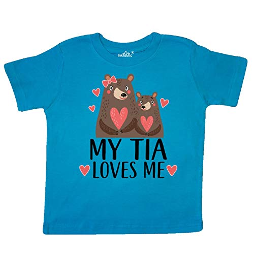 (inktastic - My Tia Loves Me Woodland Bear Toddler T-Shirt 5/6T Turquoise 33b26)