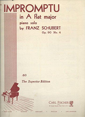 Franz Schubert: Impromptu in A Flat Major Piano Solo Op 90 No. 4 (Schubert Op 90 No 4 Sheet Music)