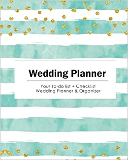 wedding planner your to do list check list wedding planner organizer gold dots with blue stripe size 8x10 wedding planner wedding checklist
