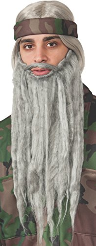 Rubie's Men's Duck Hunting Season Wig and Beard, Grey