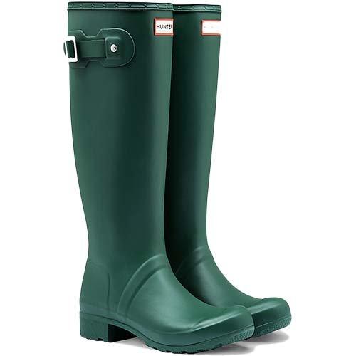 Hunter Original Tour Hunter Green Women's Rain Boots 9 M by Hunter