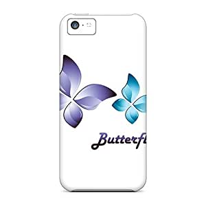 Durable Protector Case Cover With Butterflies Hot Design For Iphone 5c