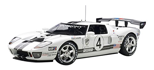 2005 Ford GT LM Race Car Spec II diecast model car 1:18 scale die cast by AUTOart - White 80515 - Gt Spec Trunk