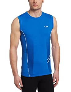 Icebreaker Men's Sonic Sleeveless Shirt, Cadet, Small