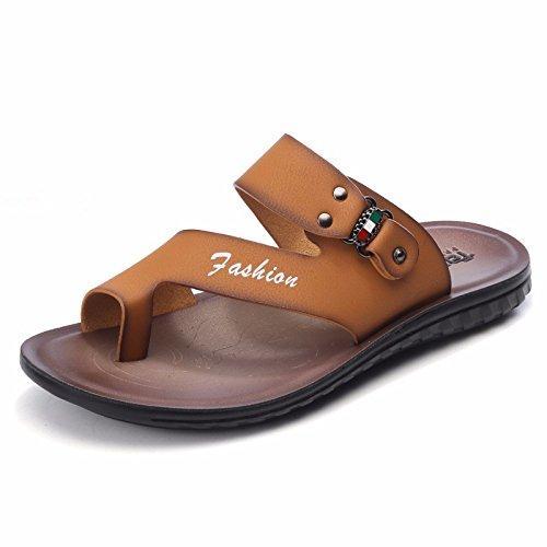 Sommer Das neue Strandschuhe Männer Jugend Persönlichkeit Männer Freizeit Männer Sandalen Flip Flops Trend ,Gelb111,US=7?UK=6.5,EU=40?CN=40
