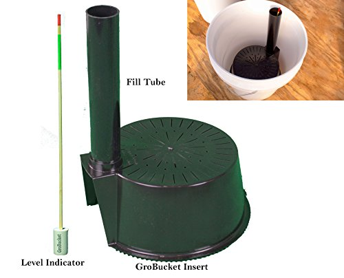 GroBucket Garden Kit (10PK) Self Watering sub-irrigated planter insert. Turn any bucket into a Self Watering Container Garden. Create an indoor or outdoor, space saving and portable garden in (Self Watering Tomato)