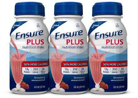 Ensure Plus Strawberry Flavor 8 oz. Bottle Ready to Use, 57269 – Case of 24