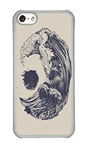 Apple Iphone 5C Case,Muyushiyuan Cool Swell Hard Case Protective Shell Cell Phone Cover For Apple Iphone 5C - PC Transparent