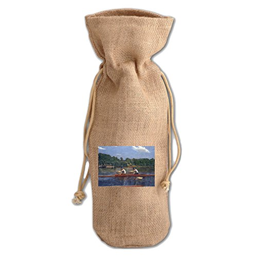 Biglin Brothers Racing (Thomas Eakins) Jute Burlap Burlap Wine Drawstring Bag